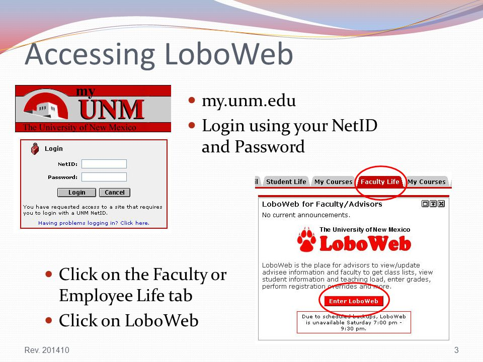 Accessing LoboWeb Rev.