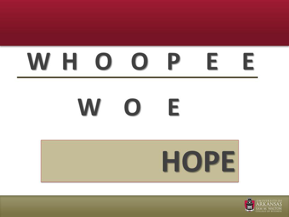 WEHOOPE WOE HOPE