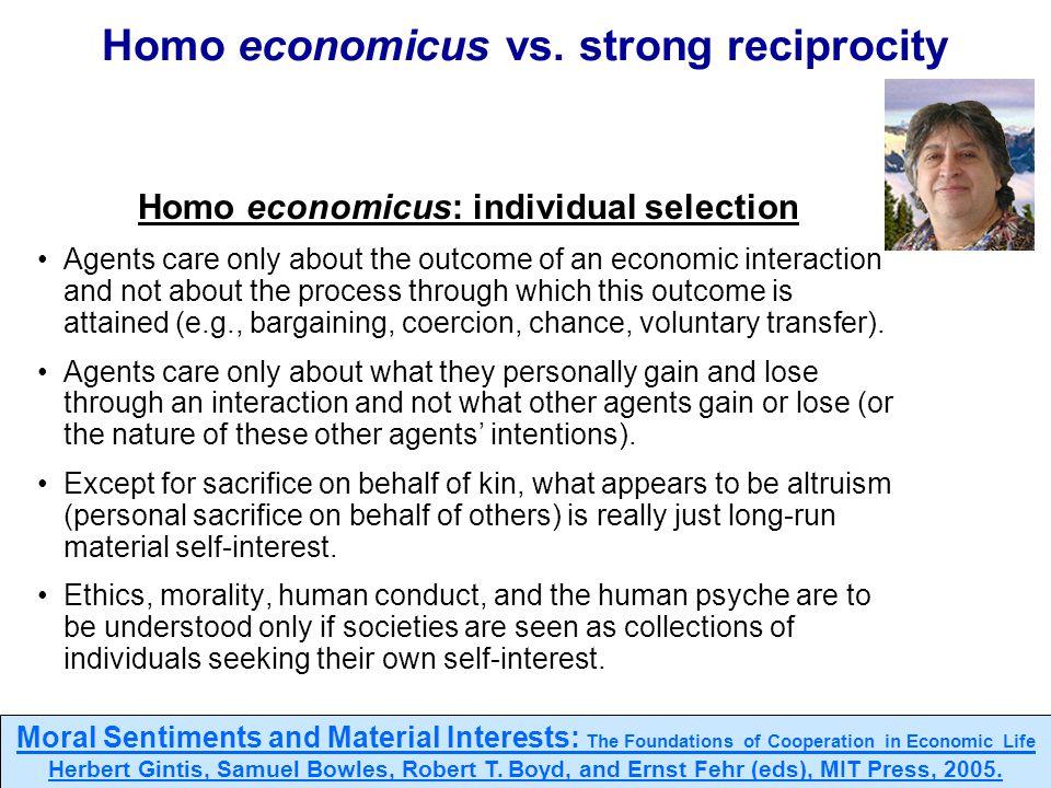 100 Homo economicus vs.