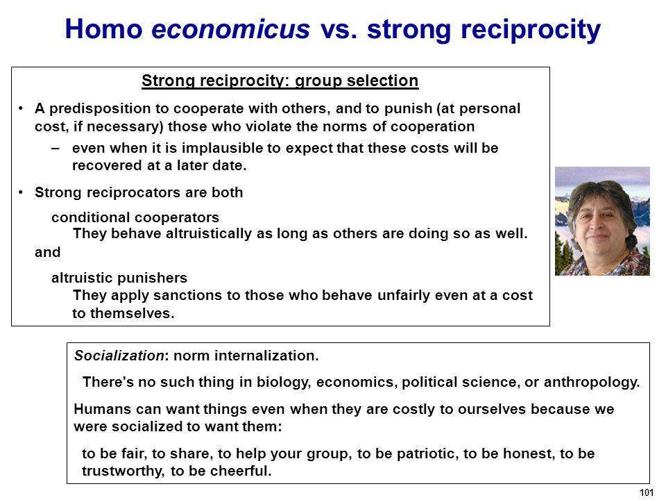 101 Homo economicus vs.