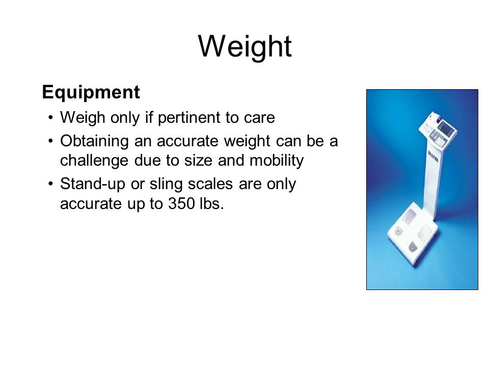 Management Tips Consistently utilize bariatric BP cuff Secure cuff with tape if needed Use a cuff on the forearm and feel for the radial pulse to determine the systolic pressure Validate hypotension manually by ear with doppler stethoscope – modify care plan Elevating the limb may make the first systolic click more audible Vital Signs