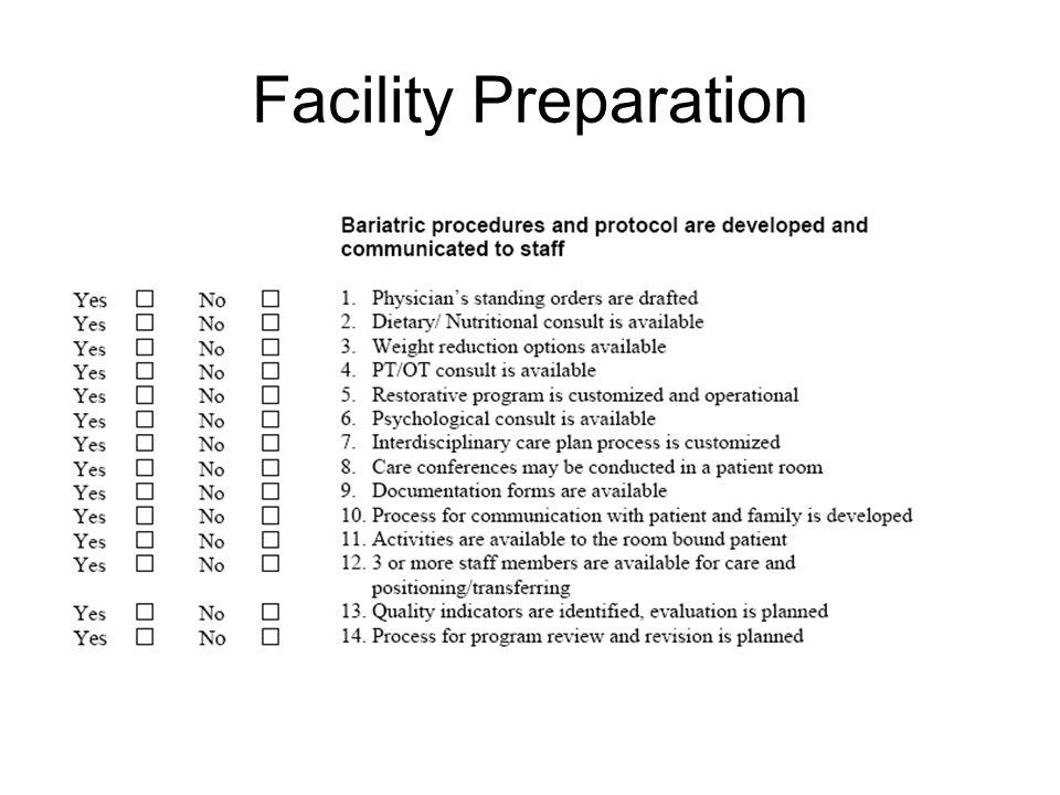 Facility Preparation