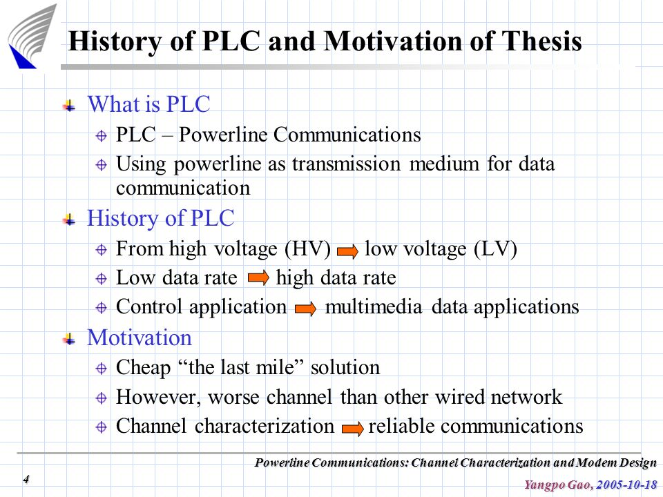 communication powerline thesis Modelling and characterization of power line communication channel a thesis submitted in partial fulfilment of the requirements for the degree of.