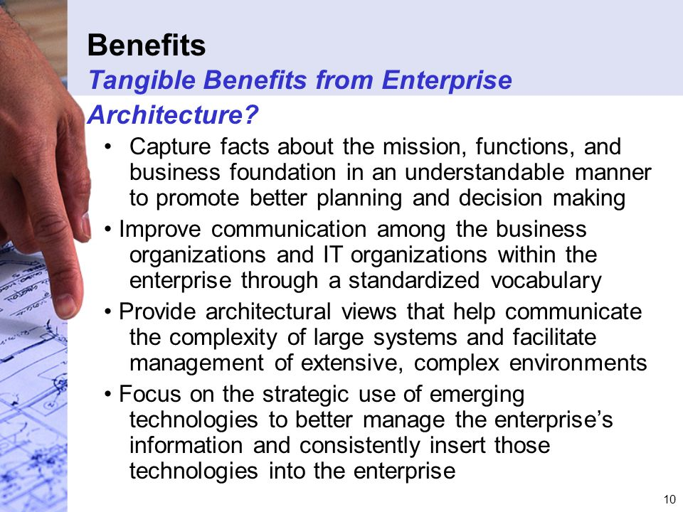 10 Benefits Tangible Benefits from Enterprise Architecture.