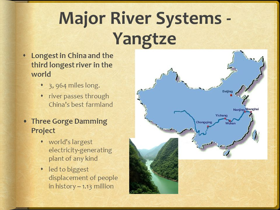 Map Of China Major River Systems Huang He Ancient China Had - What is the third largest river in the world