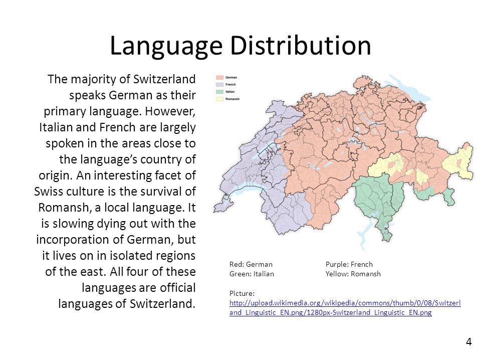 Evan Smith Nd Period AP European History Switzerland Sjpg - Switzerland language map