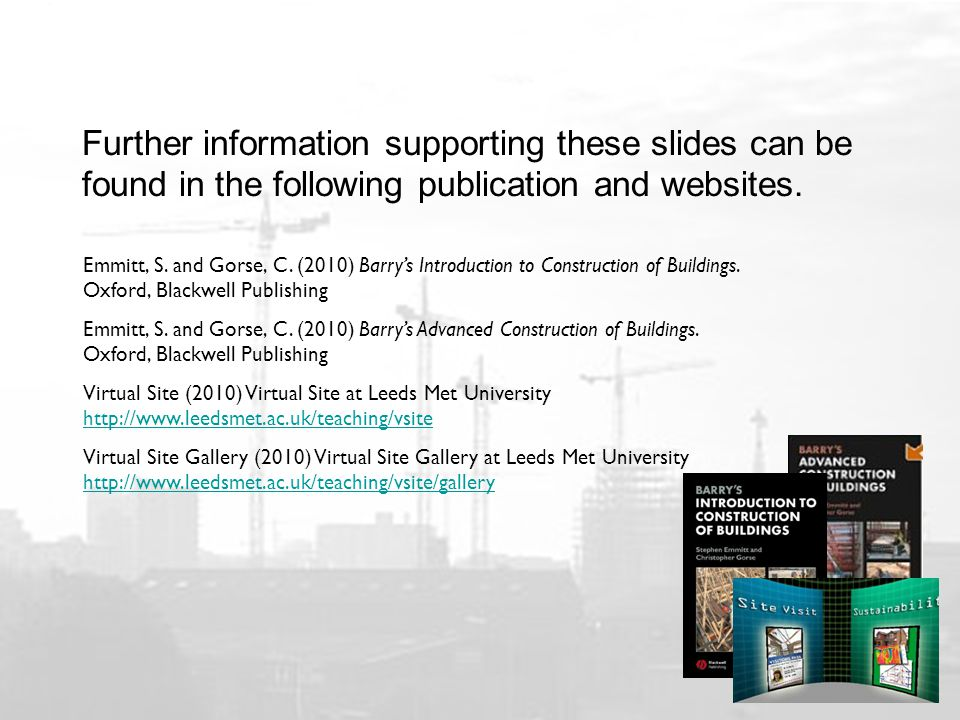 Further information supporting these slides can be found in the following publication and websites.