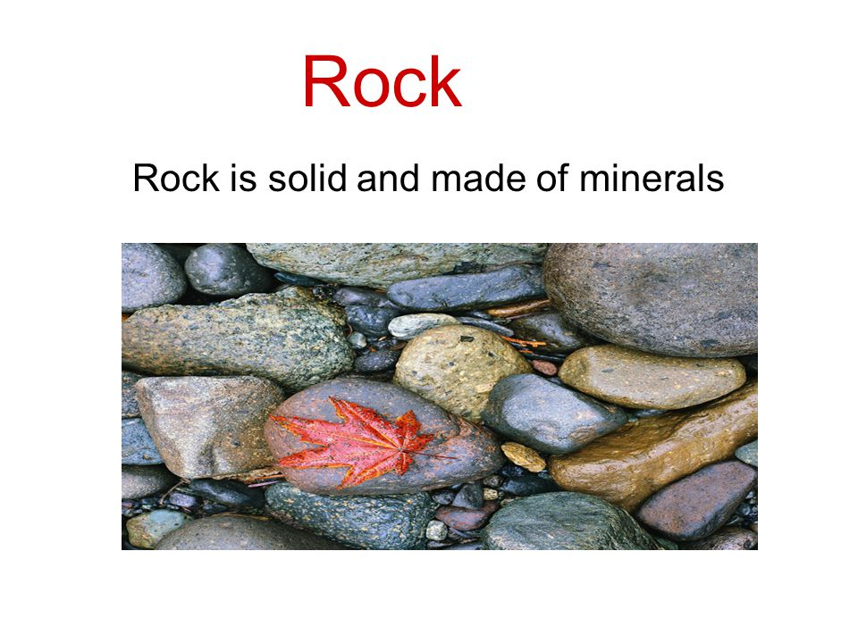There are five components of soil: 1. Rock 2. Sand 3.