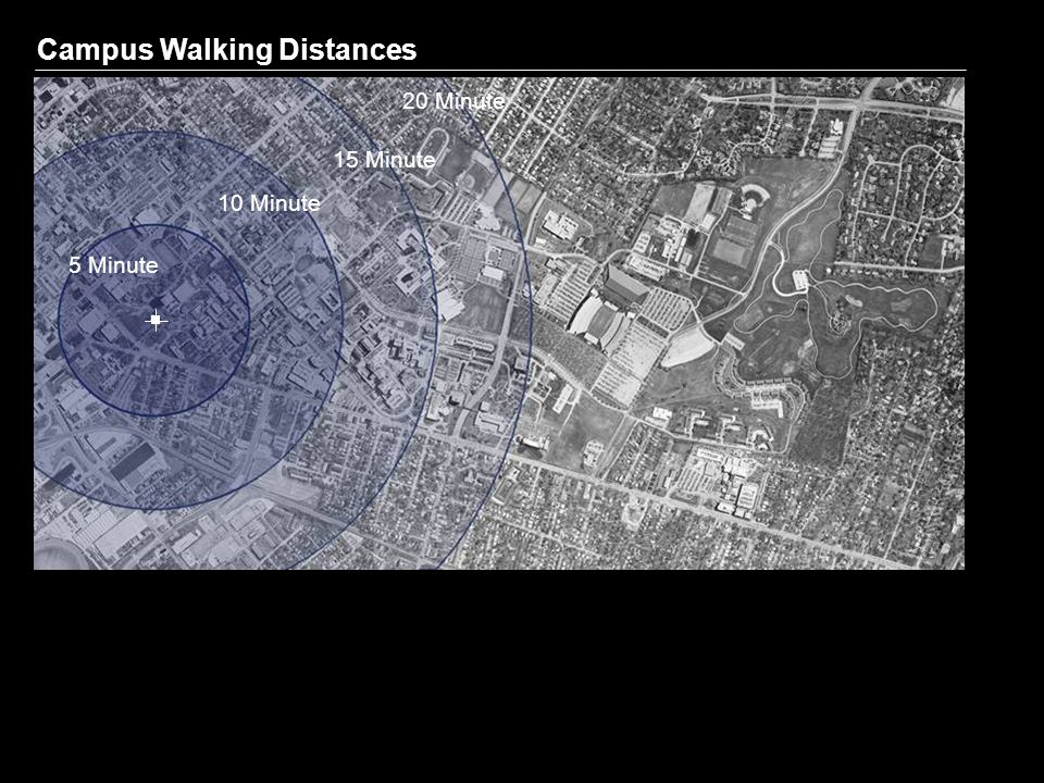 Campus Walking Distances 5 Minute 10 Minute 15 Minute 20 Minute
