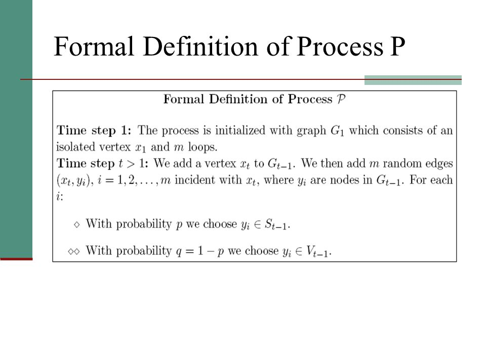 Formal Definition of Process P