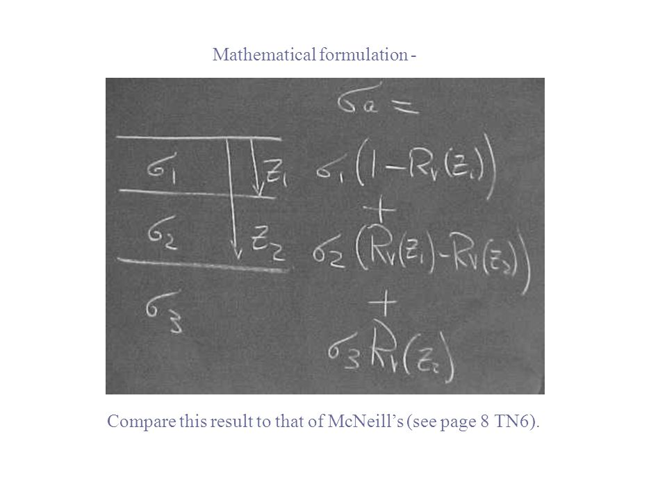Compare this result to that of McNeill's (see page 8 TN6). Mathematical formulation -