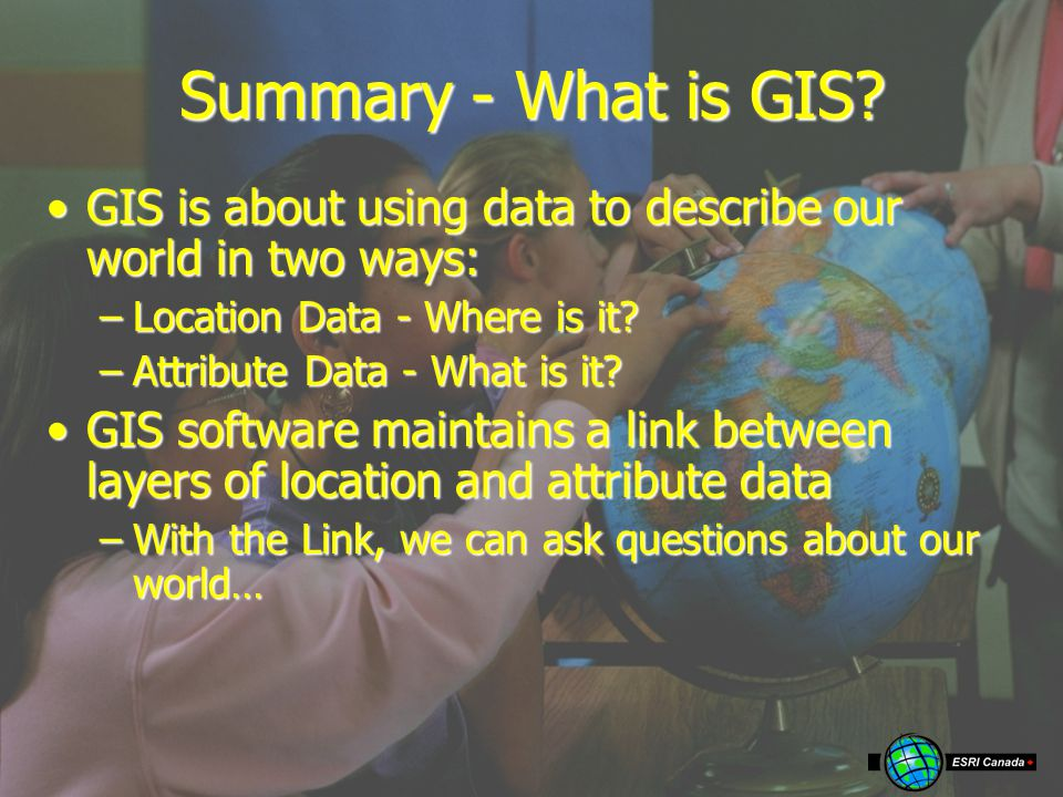 Summary - What is GIS.