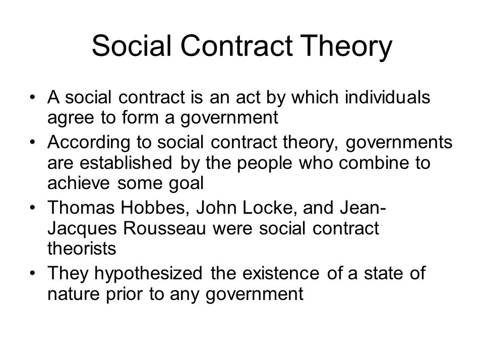 the social contract theory 2 essay