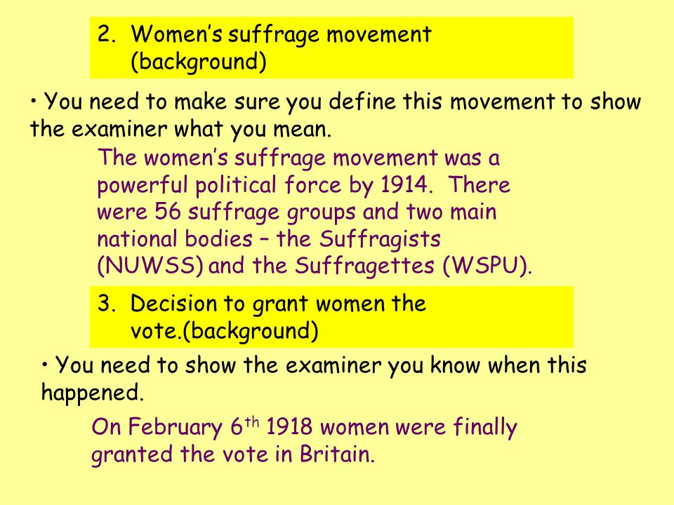 Woman Suffrage Movement Essay