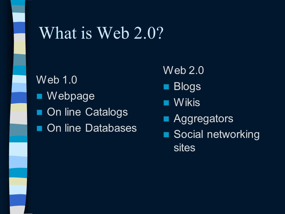 What is Web 2.0.