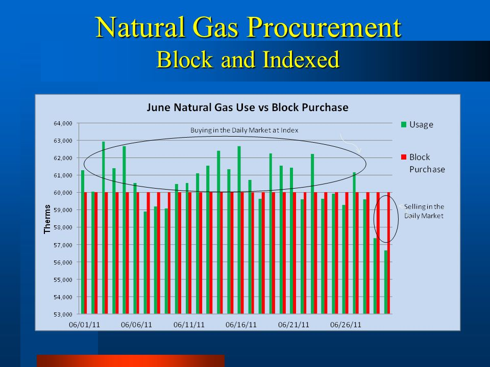 Natural Gas Procurement Block and Indexed