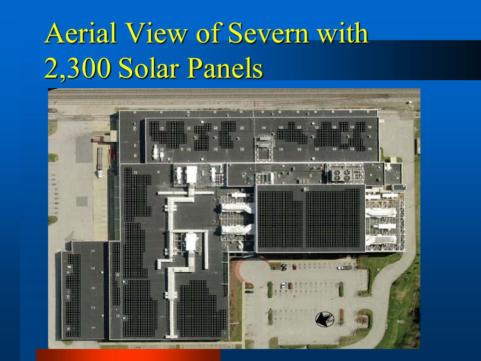 Aerial View of Severn with 2,300 Solar Panels