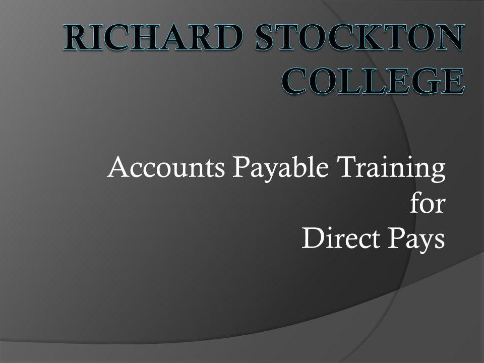 Accounts Payable Training for Direct Pays