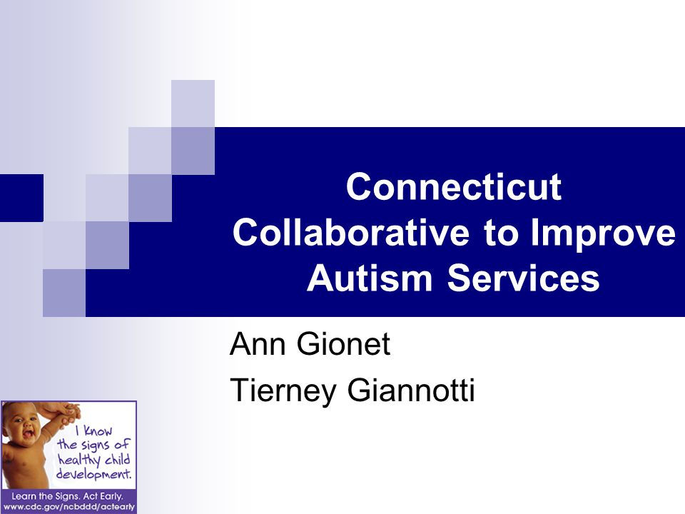 Connecticut Collaborative to Improve Autism Services Ann Gionet Tierney Giannotti