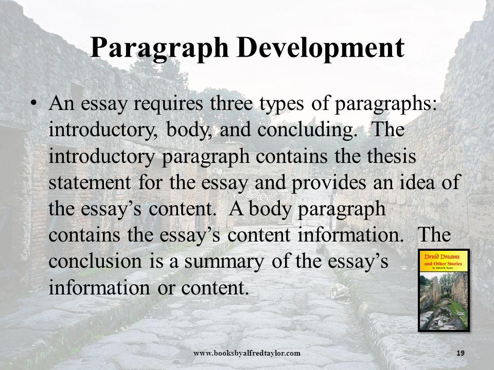 methods of development essays
