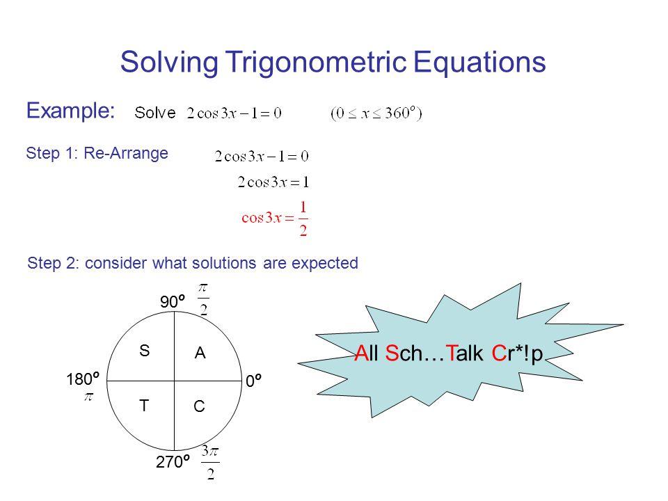 Trigonometric Equations Reminders I Radians Converting Between