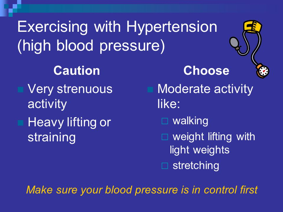 Image result for walking with weights and high blood pressure