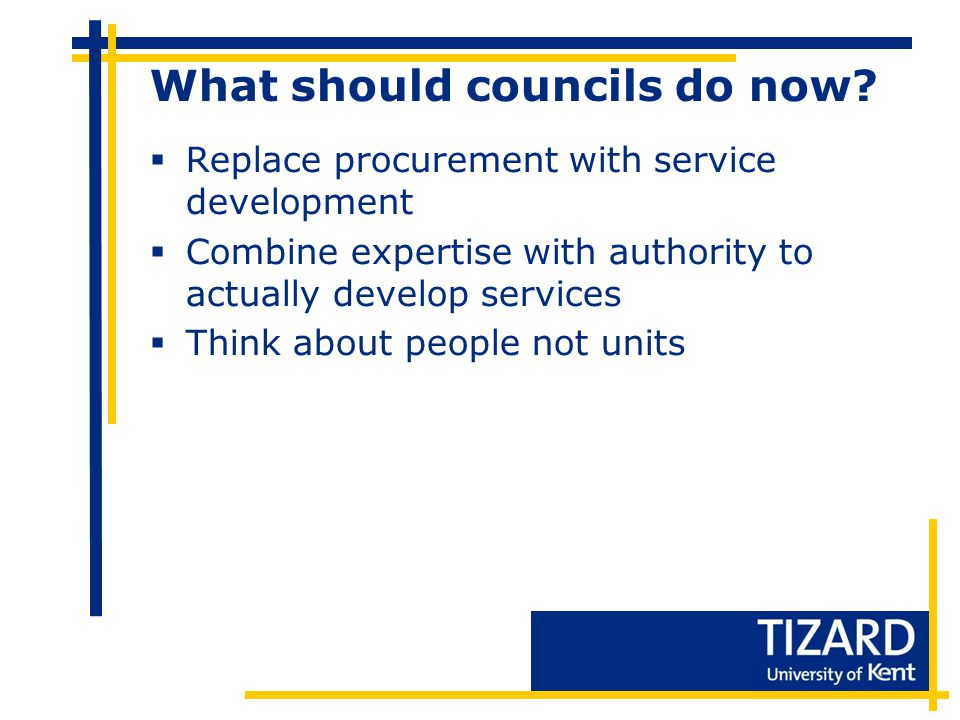 What should councils do now.