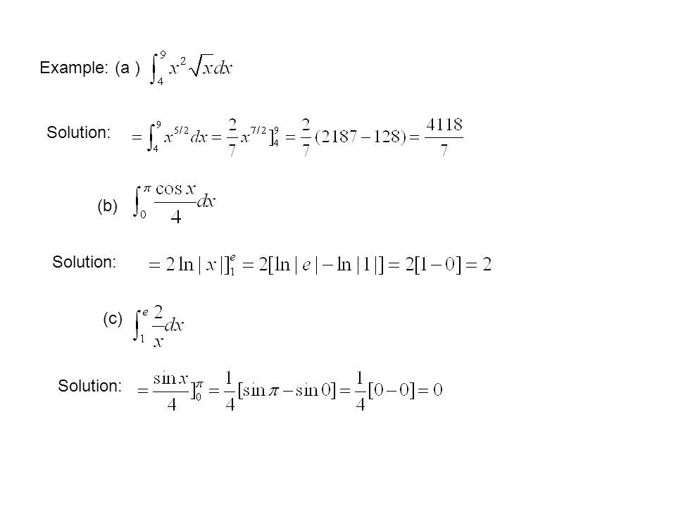 Example: (a ) Solution: (b) Solution: (c) Solution: