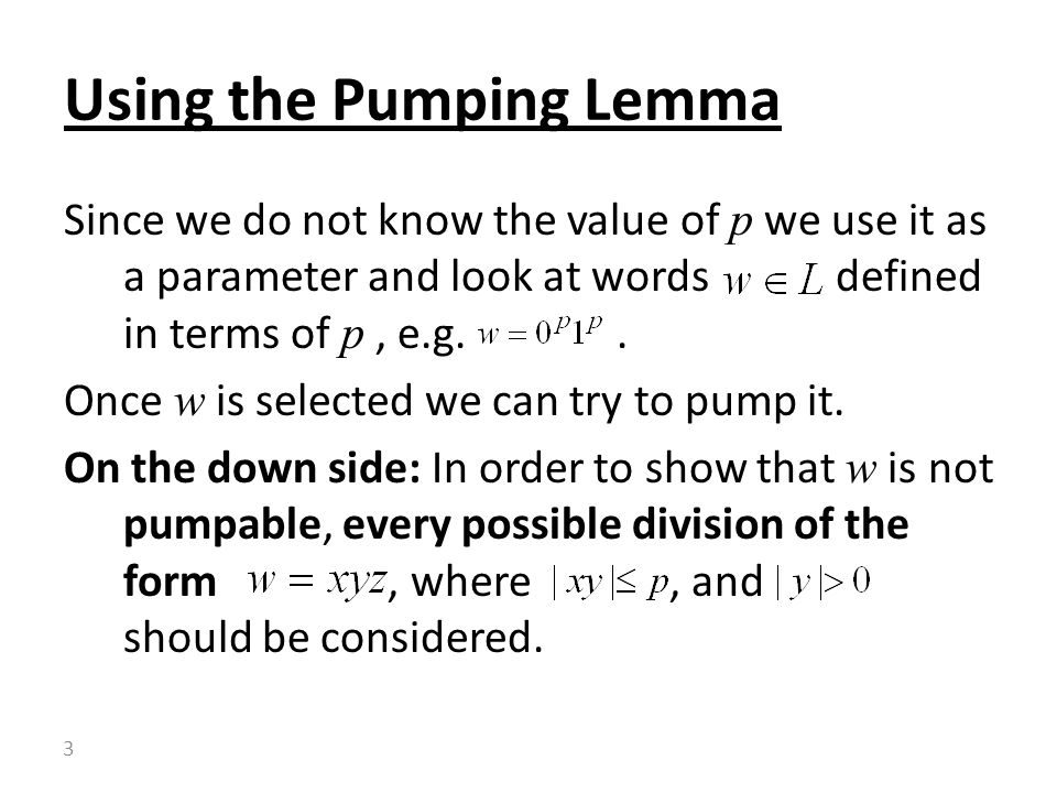 Since we do not know the value of p we use it as a parameter and look at words defined in terms of p, e.g..