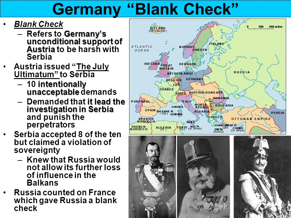 Would the Germans still give Austria a blank cheque if they knew what was coming?
