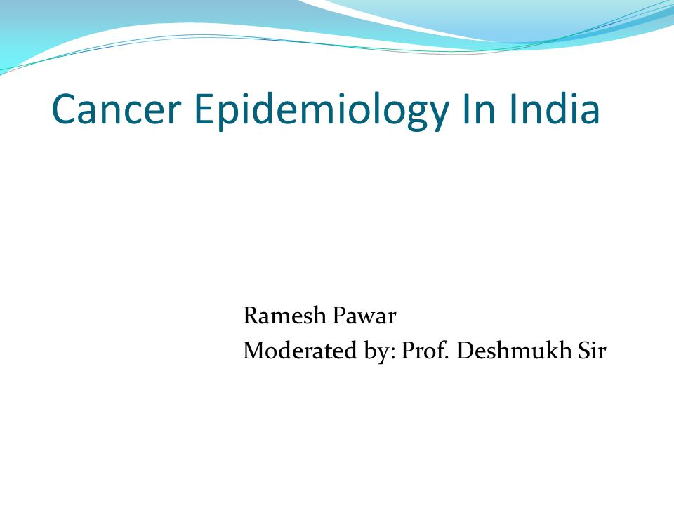 epidemiology in india
