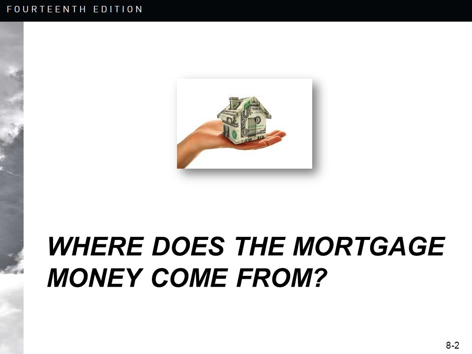 8-2 WHERE DOES THE MORTGAGE MONEY COME FROM
