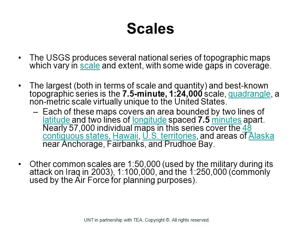 Scales The Usgs Produces Several National Series Of Topographic Maps Which Vary In Scale And Extent