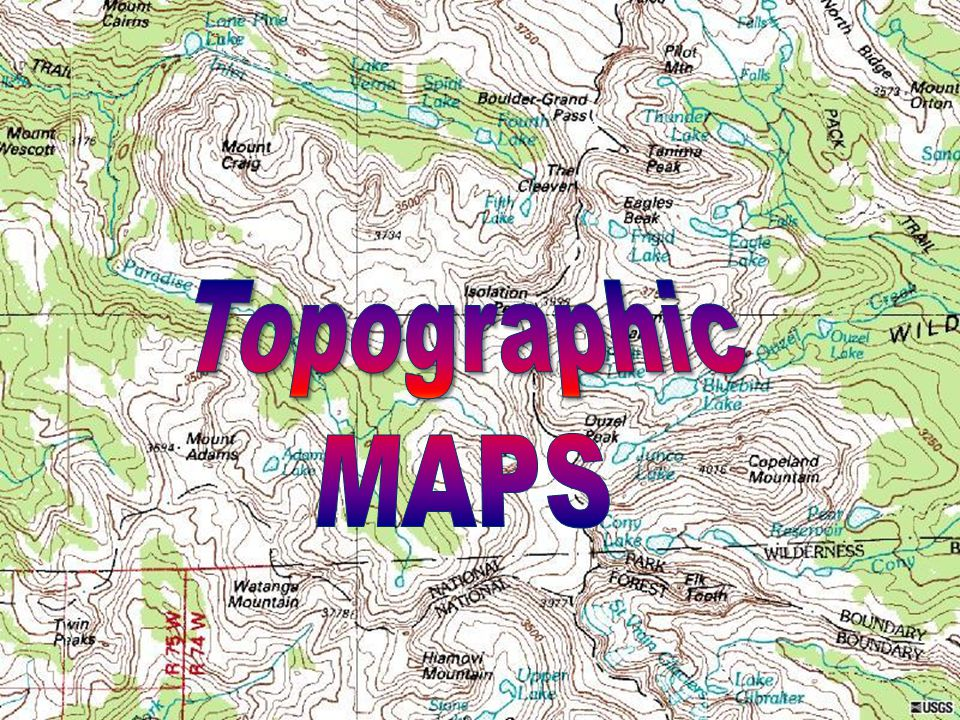 What is topography map?