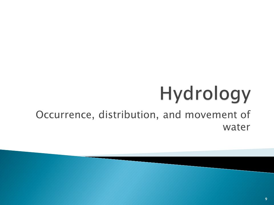 Occurrence, distribution, and movement of water 9