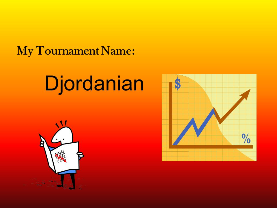 The Stock Tournament A Powerpoint By Jordan Sisk Ppt Download