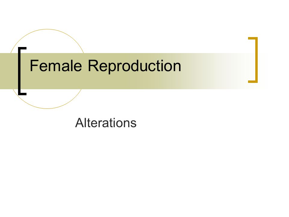 Female Reproduction Alterations