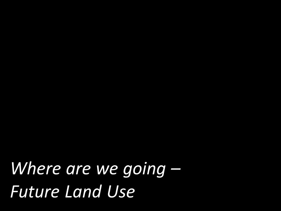 Where are we going – Future Land Use