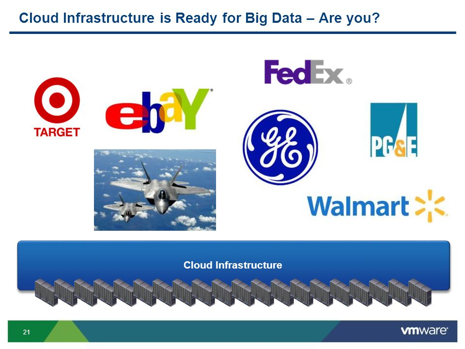 21 Cloud Infrastructure is Ready for Big Data – Are you Cloud Infrastructure