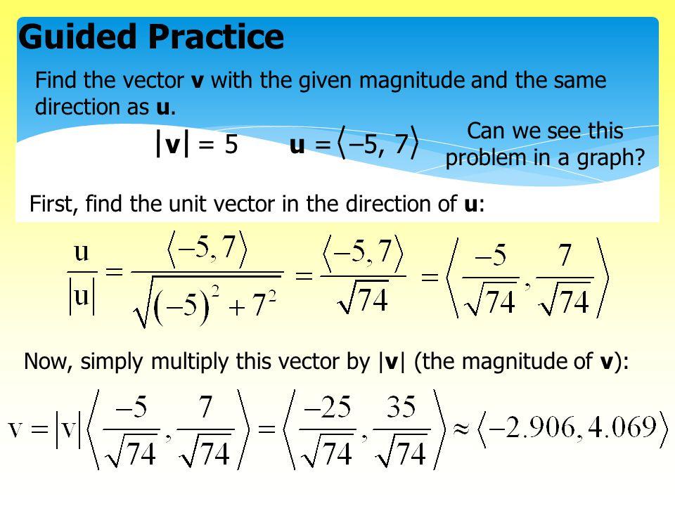 Magnitude of a vector 3d
