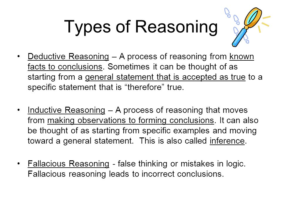 Reasoning Critical Thinking