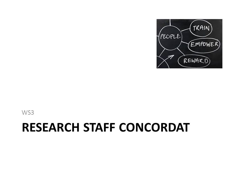 RESEARCH STAFF CONCORDAT WS3