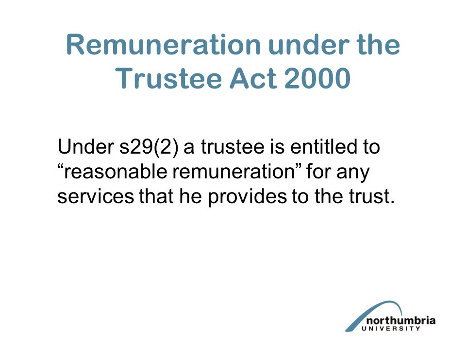 trustee act 2000 essay English trust law concerns the creation and protection of the trustee act 2000 sections 28–32 stipulate that professional trustees are entitled to a.