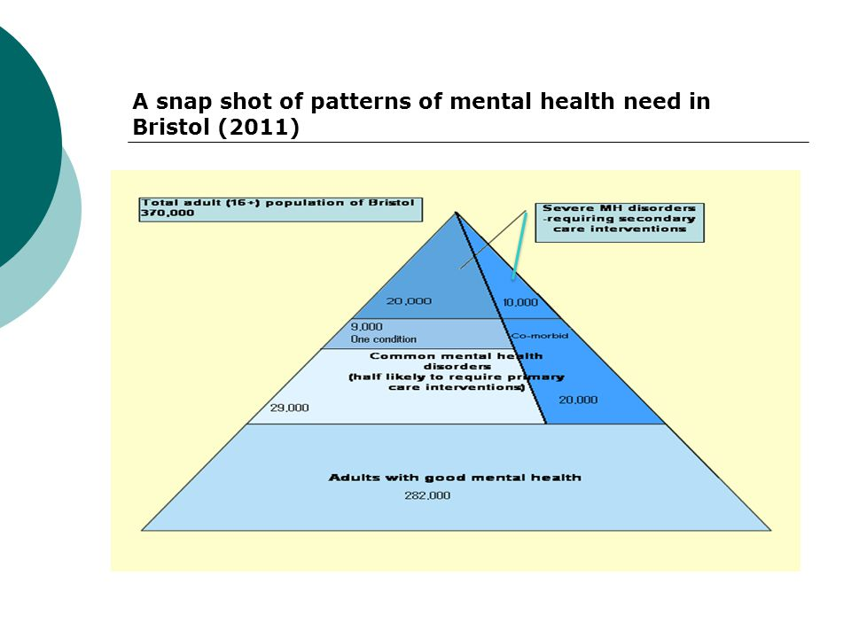 A snap shot of patterns of mental health need in Bristol (2011)