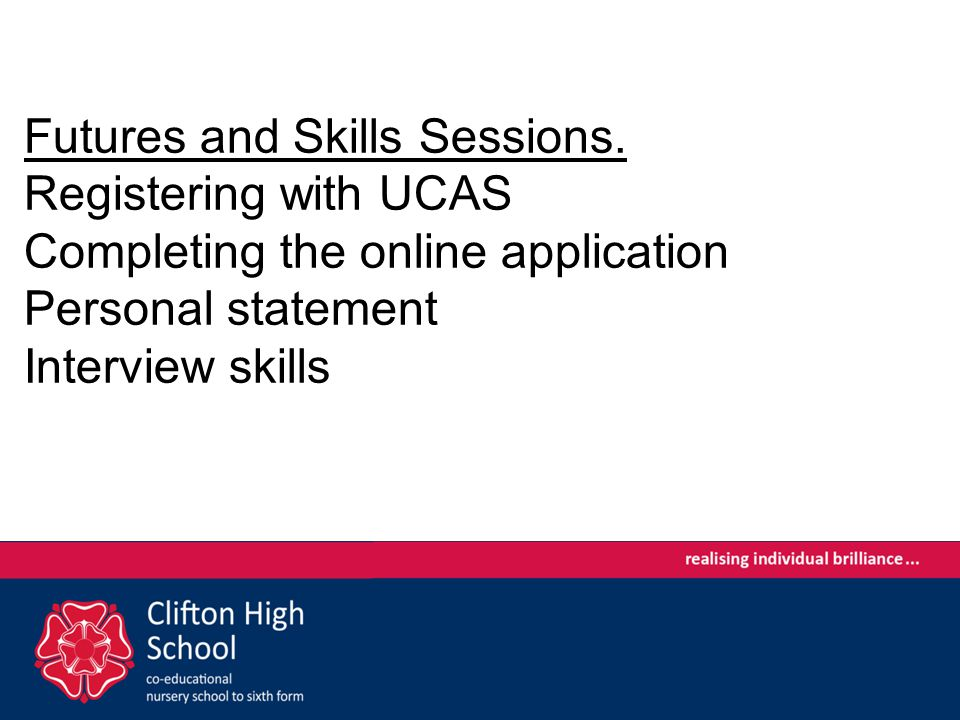 Futures and Skills Sessions.