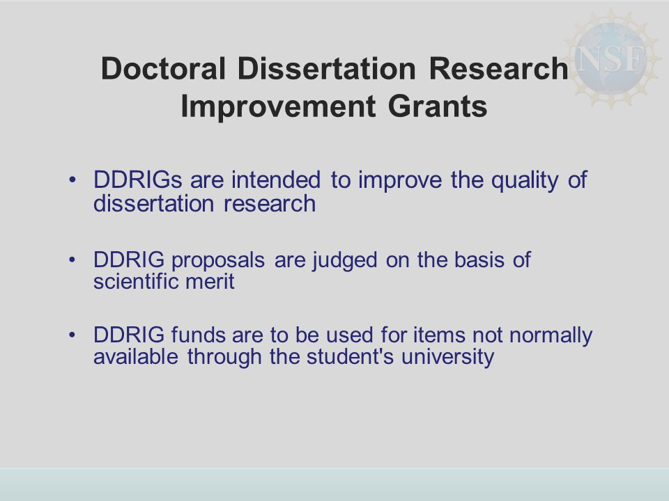 Doctoral Dissertation Assistance Proposal