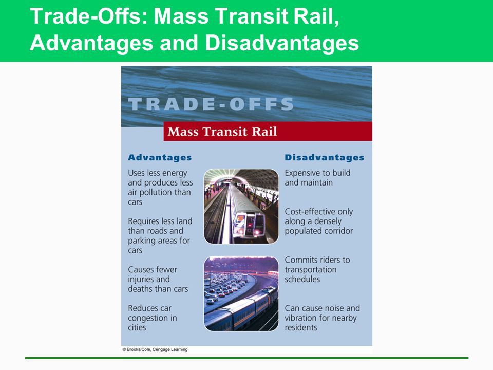 Trade-Offs: Mass Transit Rail, Advantages and Disadvantages