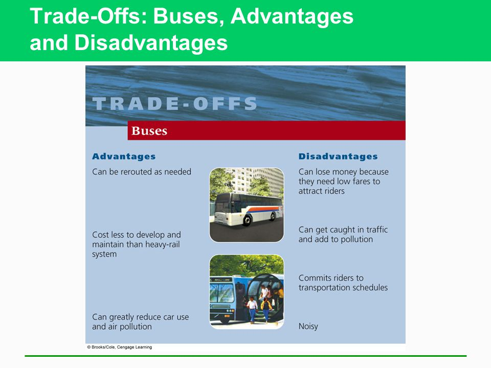 Trade-Offs: Buses, Advantages and Disadvantages