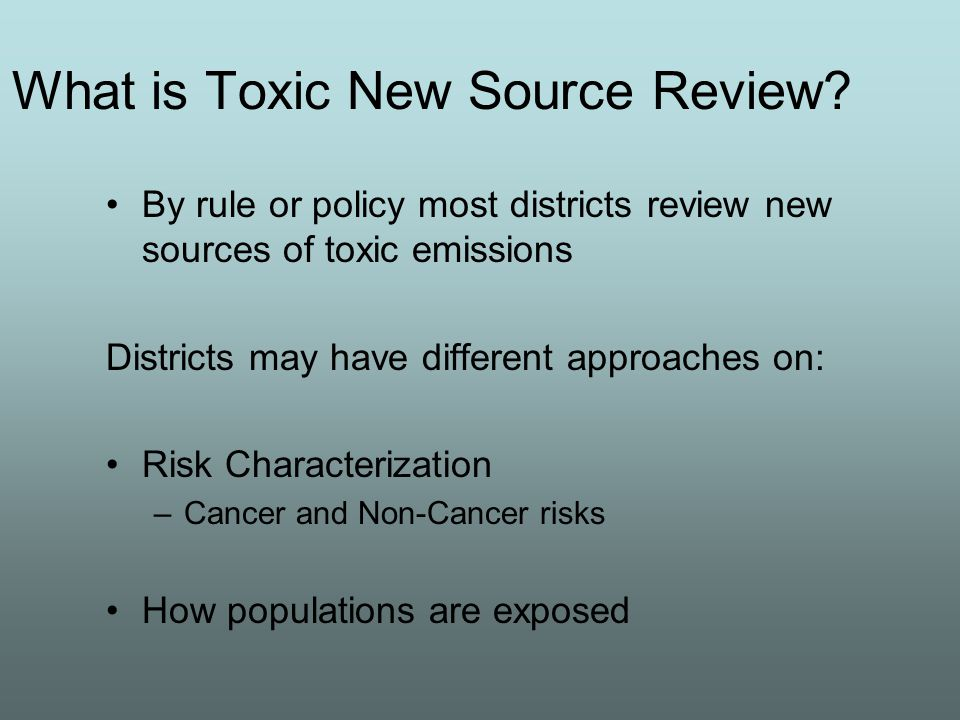 What is Toxic New Source Review.