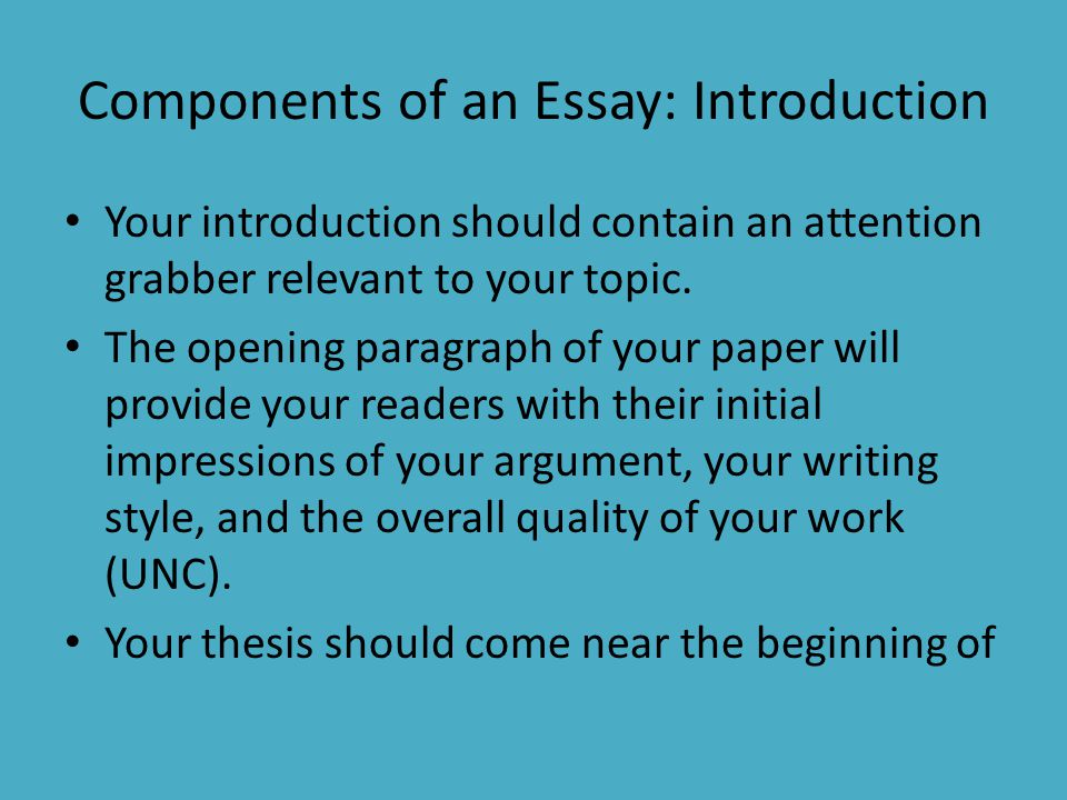 writing effective introductions essays A guide to writing scientific essays these are general points that any good scientific essay should follow state the point of the essay in the introduction.